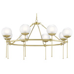 Montview Chandelier - Brushed Brass / Frost / Clear