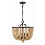Rylee Pendant - Forged Bronze / Light Wood