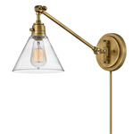 Arti Glass Swing Wall Sconce - Heritage Brass / Clear