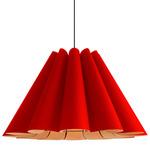 Lora Large Pendant - Black / Red
