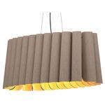 Renata Oval Pendant - Black / Grey Oak