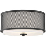 Holly Ceiling Light - Matte Black / White