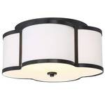 Nancy Ceiling Light - Bronze / White