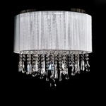 Beverly Drive Dual Hanging/Flush Mount -  / Silver