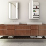 Ascension Left Hinged Recessed Medicine Cabinet by Electric Mirror