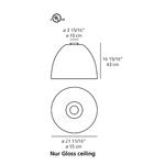 Nur Gloss Ceiling Light -  /