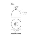 Nur Gloss Ceiling Light -  /
