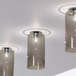 Spillray Narrow Ceiling Light - Chrome / Crystal