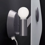Bit 1 Wall Light - Satin / White