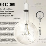 Big Edison Pendant - Off White / Clear