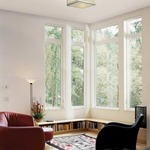 Avenue Fablux Ceiling - Satin Nickel / Knoll