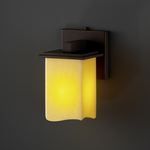 Montana Square Melted Rim Candlearia Wall Sconce - Dark Bronze / Amber