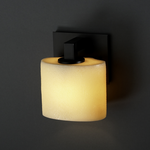 Modular Oval Candlearia Wall Sconce - Matte Black / Amber