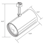 CTL120 Line Voltage PAR20 Flat Cylinder Track Fixture -  /