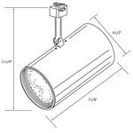 CTL130 Line Voltage PAR30L Flat Cylinder Track Fixture -  /