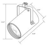 CTL140 Line Voltage PAR38 Flat Cylinder Track Fixture -  /