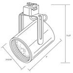 CTL2116 Line Voltage PAR16 Flat Back Cylinder Track Fixture -  /