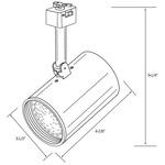 CTL2120 Line Voltage PAR20 Flat Cylinder Track Fixture -  /