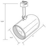 CTL220 Line Voltage PAR20 Round Back Cylinder Track Fixture -  /
