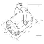 CTL2230 Line Voltage PAR30 Round Back Cylinder Track Fixture -  /