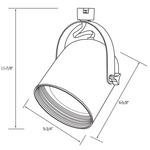 CTL2240 Line Voltage PAR38 Round Back Cylinder Track Fixture -  /
