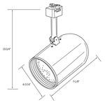 CTL230 Line Voltage PAR30L Round Back Cylinder Track Fixture -  /
