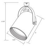 CTL240 Line Voltage PAR38 Round Back Cylinder Track Fixture -  /