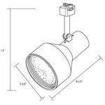 CTL340 Elite Line Voltage PAR38 Step Cylinder Track Fixture -  /