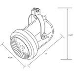 CTL520 Classic Bell Line Voltage PAR20 Track Fixture -  /