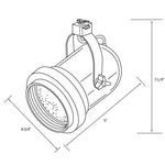 CTL530 Classic Bell Line Voltage PAR30 Track Fixture -  /