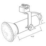 CTL601 Line Voltage PAR Universal Lampholder Track Fixture -  /