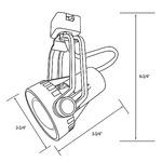 CTL8016 Saturna PAR16 Track Fixture 120V -  /