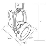 CTL8020 Line Voltage PAR20 Saturna Track Fixture -  /