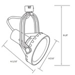 CTL8030 Line Voltage PAR30 Saturna Track Fixture -  /