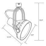 CTL8038 Line Voltage PAR38 Saturna Track Fixture -  /