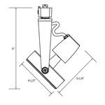 CTL8130 Line Voltage PAR30 Gimbal Track Fixture -  /