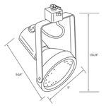 CTL838-2 Line Voltage PAR38 Slim Style Gimbal Track Fixture -  /