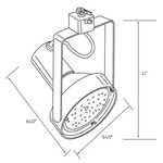CTL838 Line Voltage PAR38 Heavy Duty Gimbal Track Fixture -  /