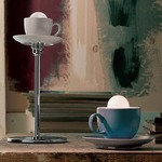 Cappuccino Table Lamp - White /