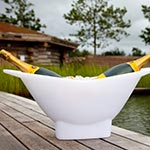 Champagne Table Lamp -  / White