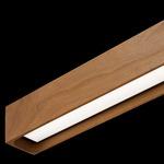Cirrus Float Stick Center Feed Suspension - Satin Nickel / Wood Cherry