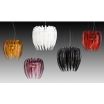 Dracena S60 Pendant - Polished Chrome / Red