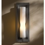 Dune Wall Light - Burnished Steel / Opal