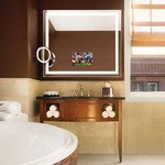 Blush Wall Mounted Makeup Mirror - Polished Chrome / Mirror