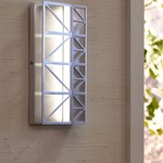 East River Outdoor Wall Sconce - Aluminum/ Orange /
