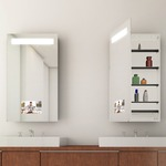 Re-Creation Left Surface Mount Medicine Cabinet by Electric Mirror