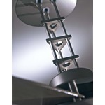 San Francisco Ceiling Fan with Light - Brushed Steel/ Chrome/ Maple /