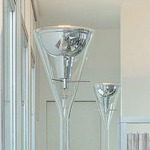 Flute Floor Lamp - Chrome / Transparent