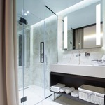 Fusion Square Lighted Mirror with Ava Dimming -
