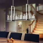 10 Light Linear Suspension - Satin Chrome /
